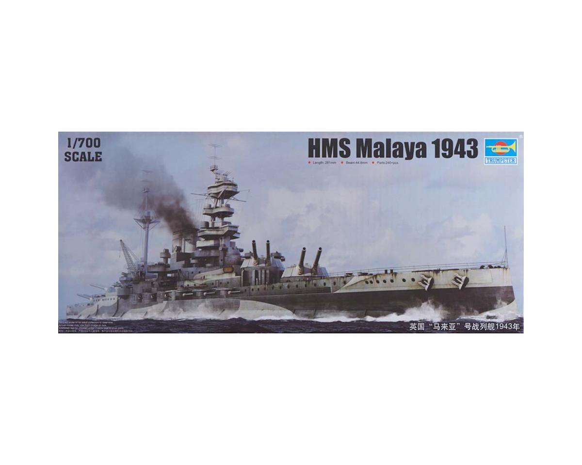 Trumpeter Scale Models 5799 1/700 HMS Malaya British Battleship 1943
