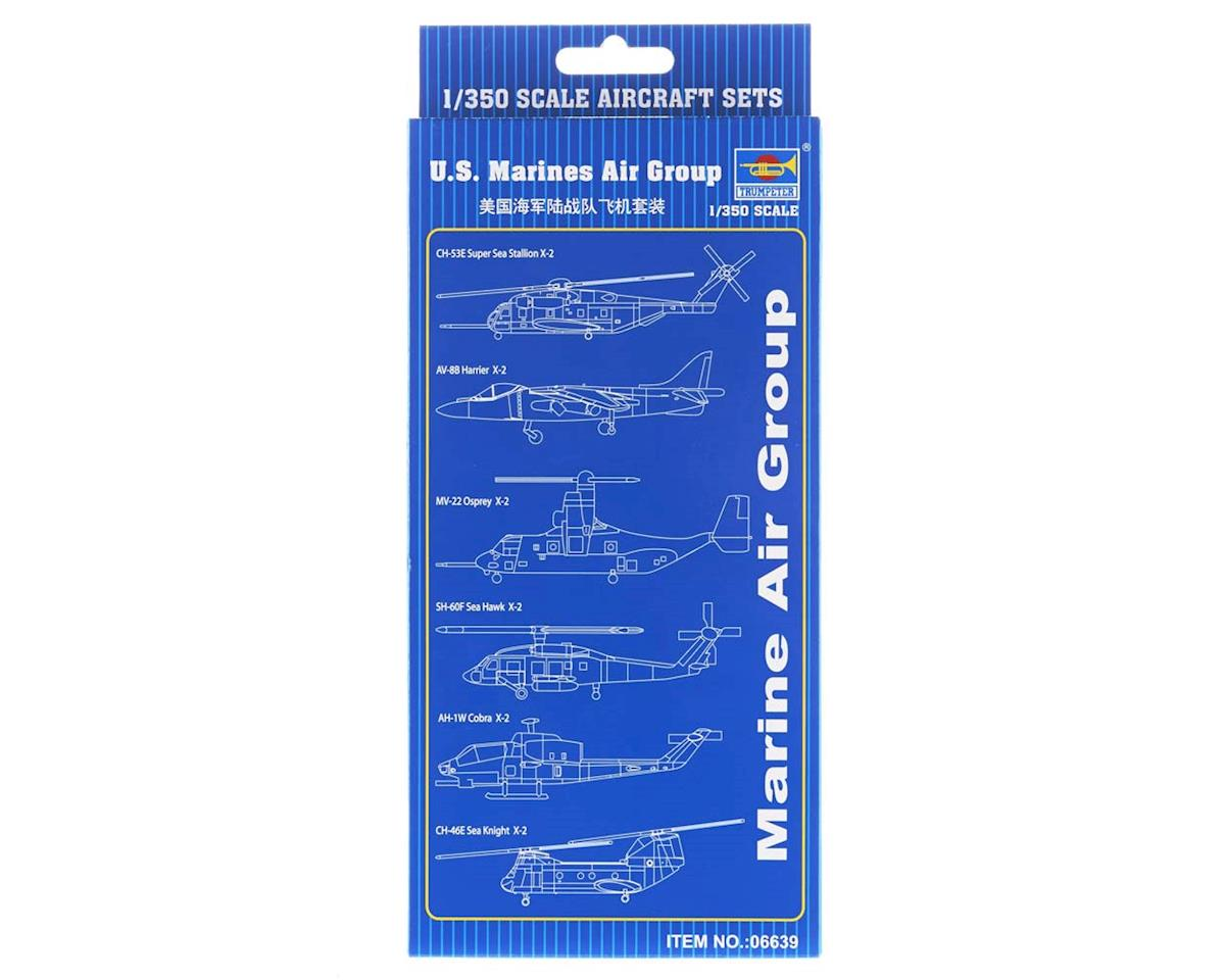 Trumpeter Scale Models 6639 1/350 US Marines Air Group Aircraft/Heli Set
