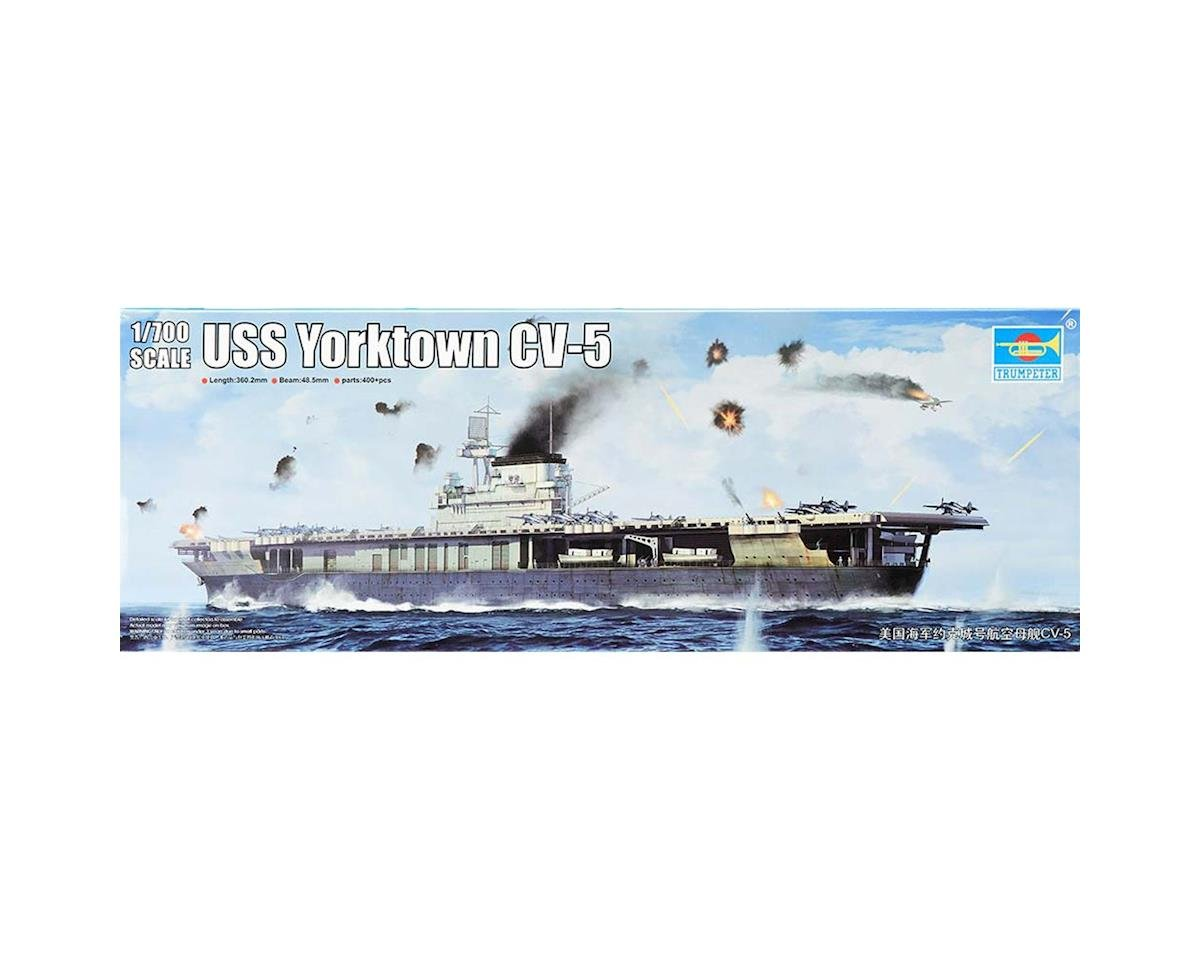 1/700 USS Yorktown CV5 Aircraft Carrier by Trumpeter Scale Models