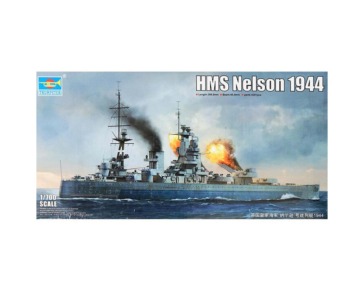 1/700 HMS Nelson British Battleship 1944 by Trumpeter Scale Models