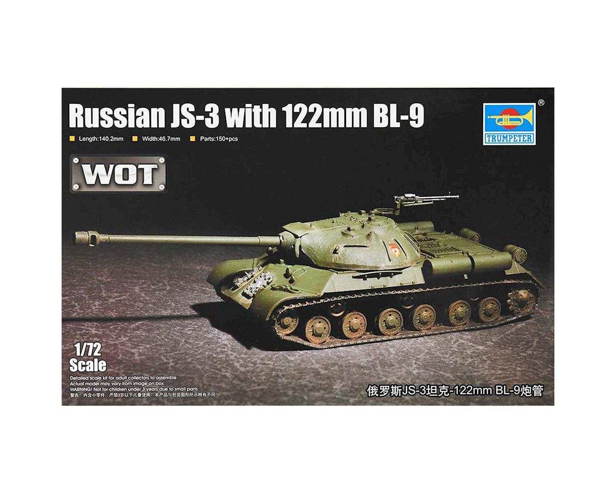 1/72 Russian JS3 Tank with 122mm BL9 Gun by Trumpeter Scale Models