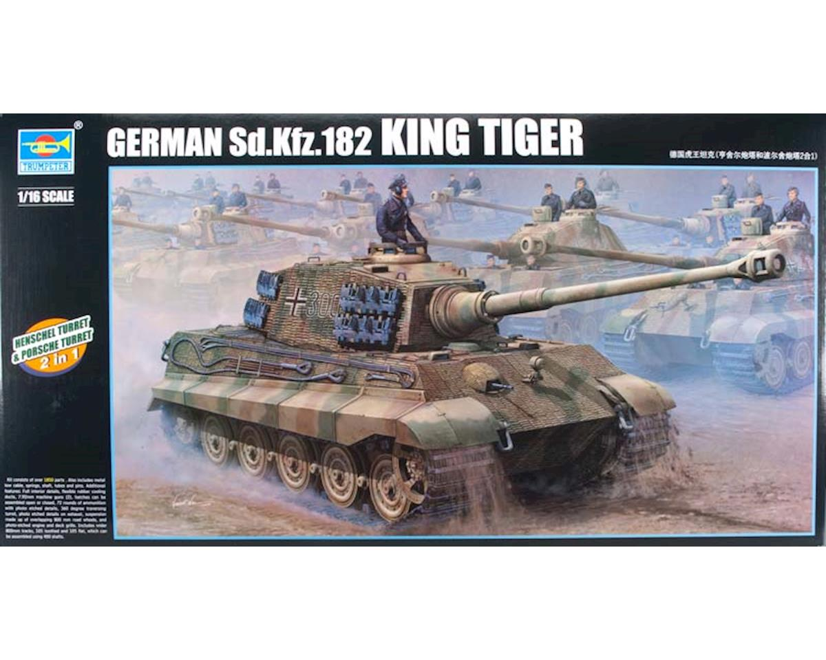 Trumpeter Scale Models 910 1/16 German King/Tiger Tank