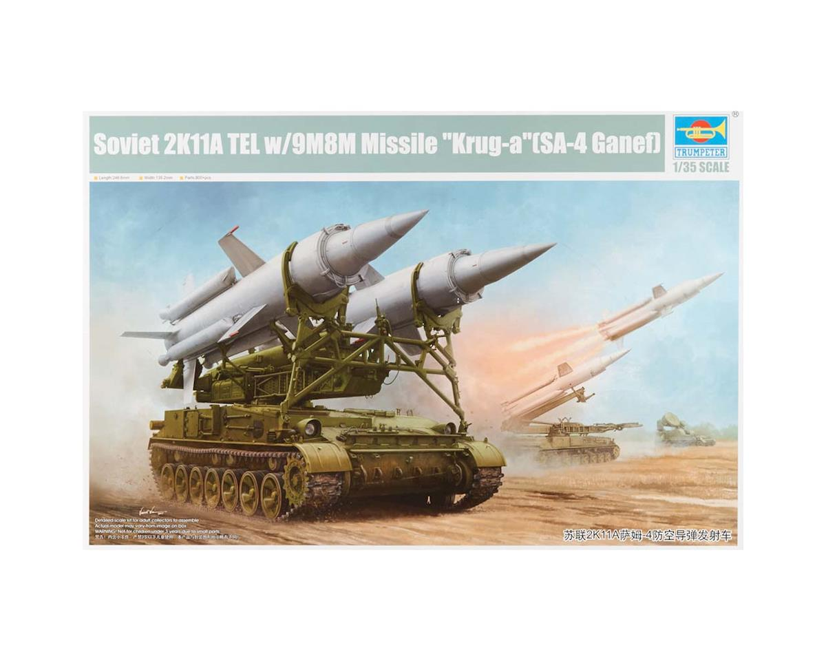 9523 1/25 Soviet 2K11A TEL w/9M8M Missile Krug-A by Trumpeter Scale Models