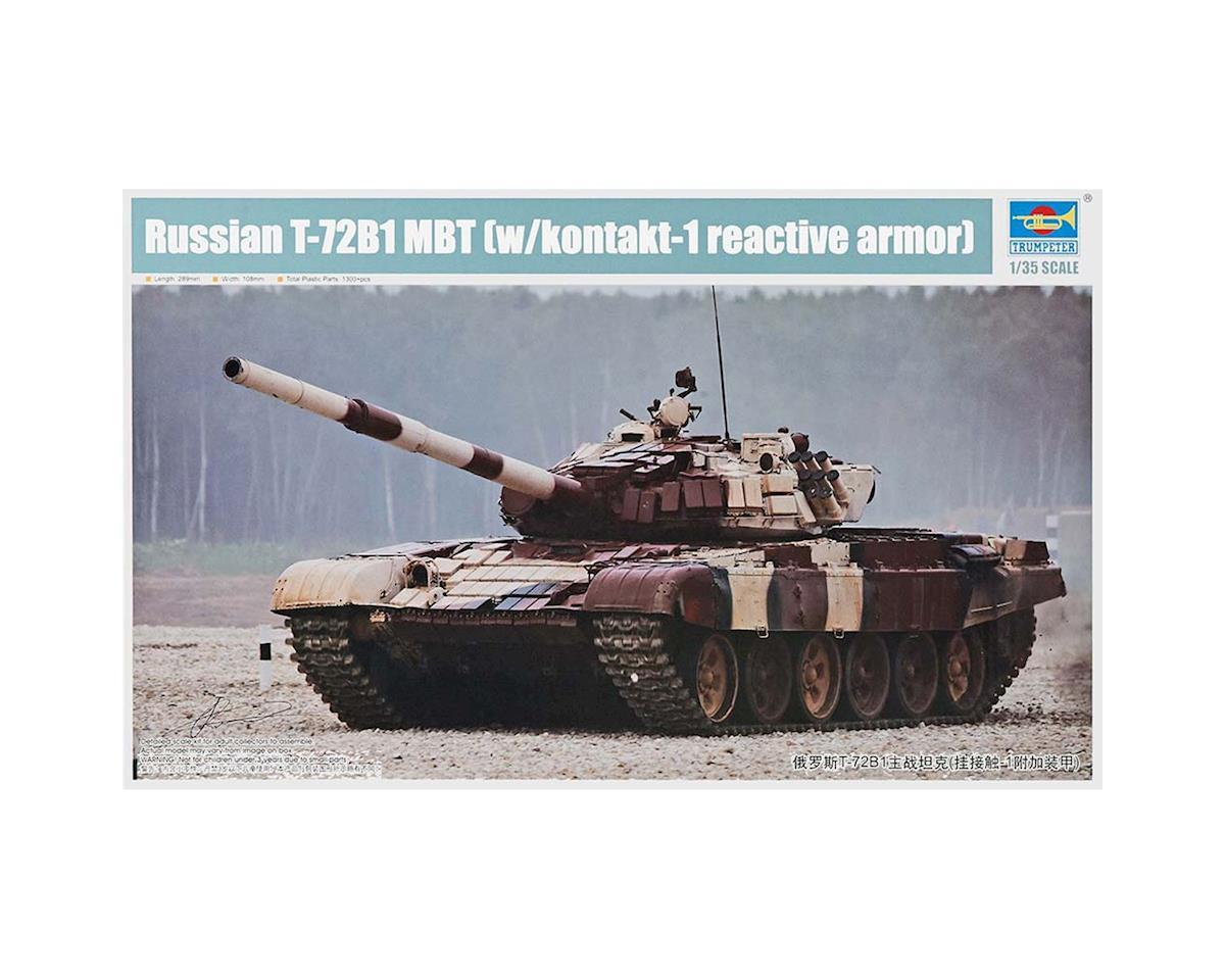 Trumpeter Scale Models 1/35 Russian T72B1 Main Battle Tank w/Kontakt-1