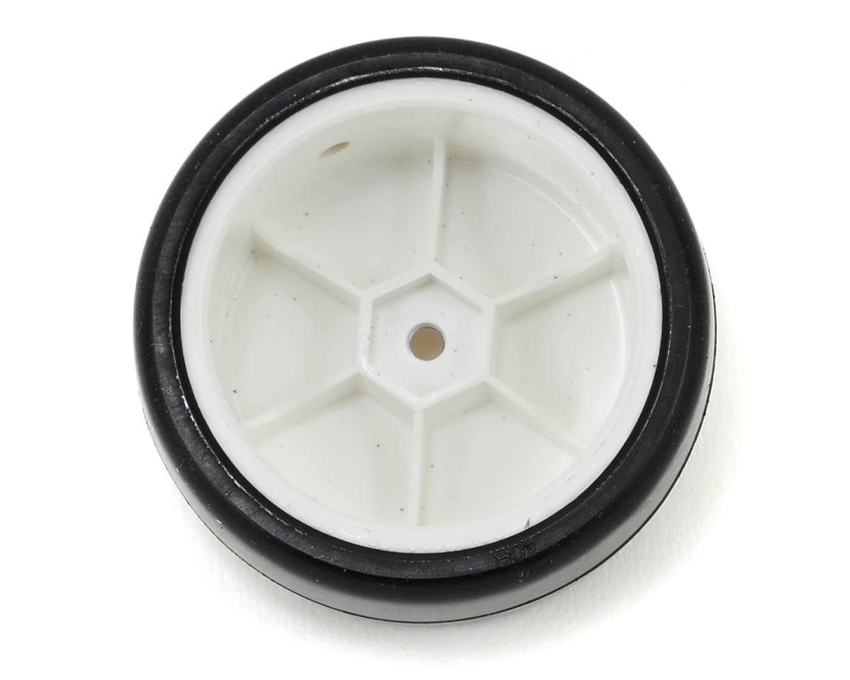Team Sorex 12mm Hex Pre-mounted Racing Tires (Yellow/StiffLight) (4) (White) (40R)