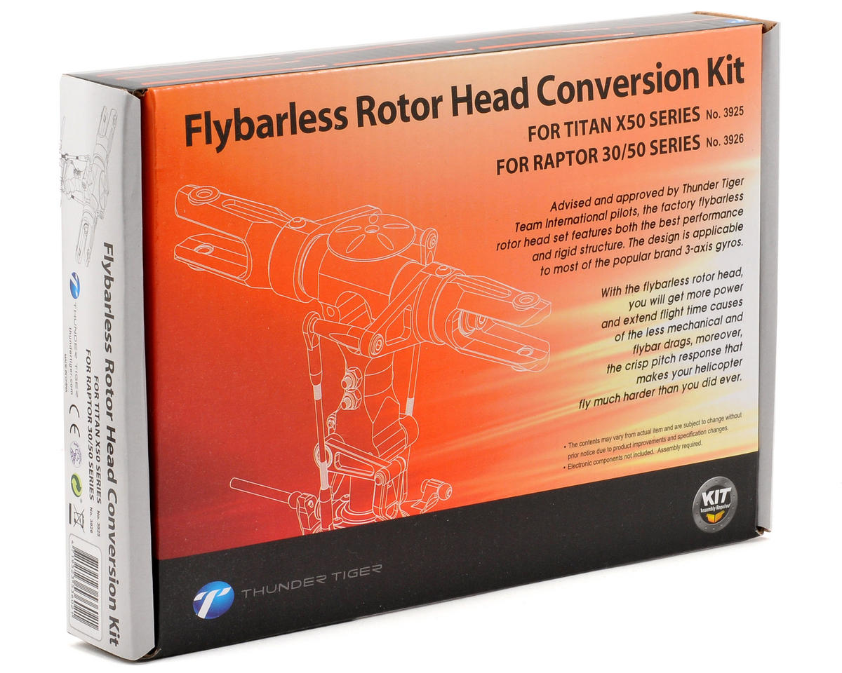 Thunder Tiger Flybarless Rotor Head Conversion Kit