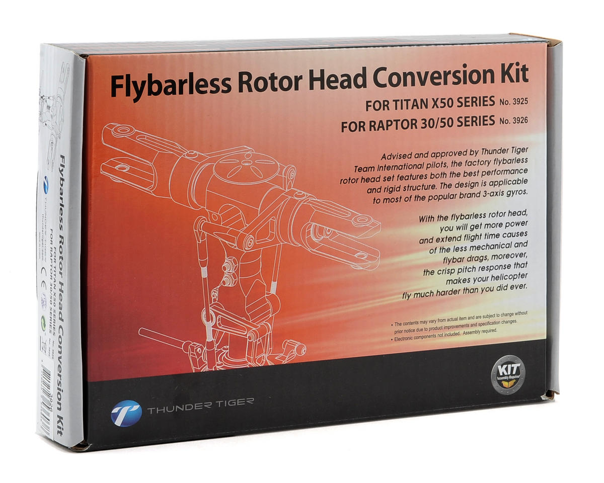 Thunder Tiger Flybarless Rotor Head Conversion Kit (X50/Raptor 30/50)