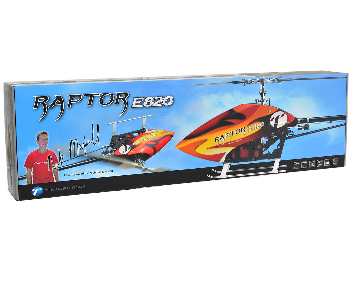Thunder Tiger Raptor E820 Electric Flybarless Helicopter Kit