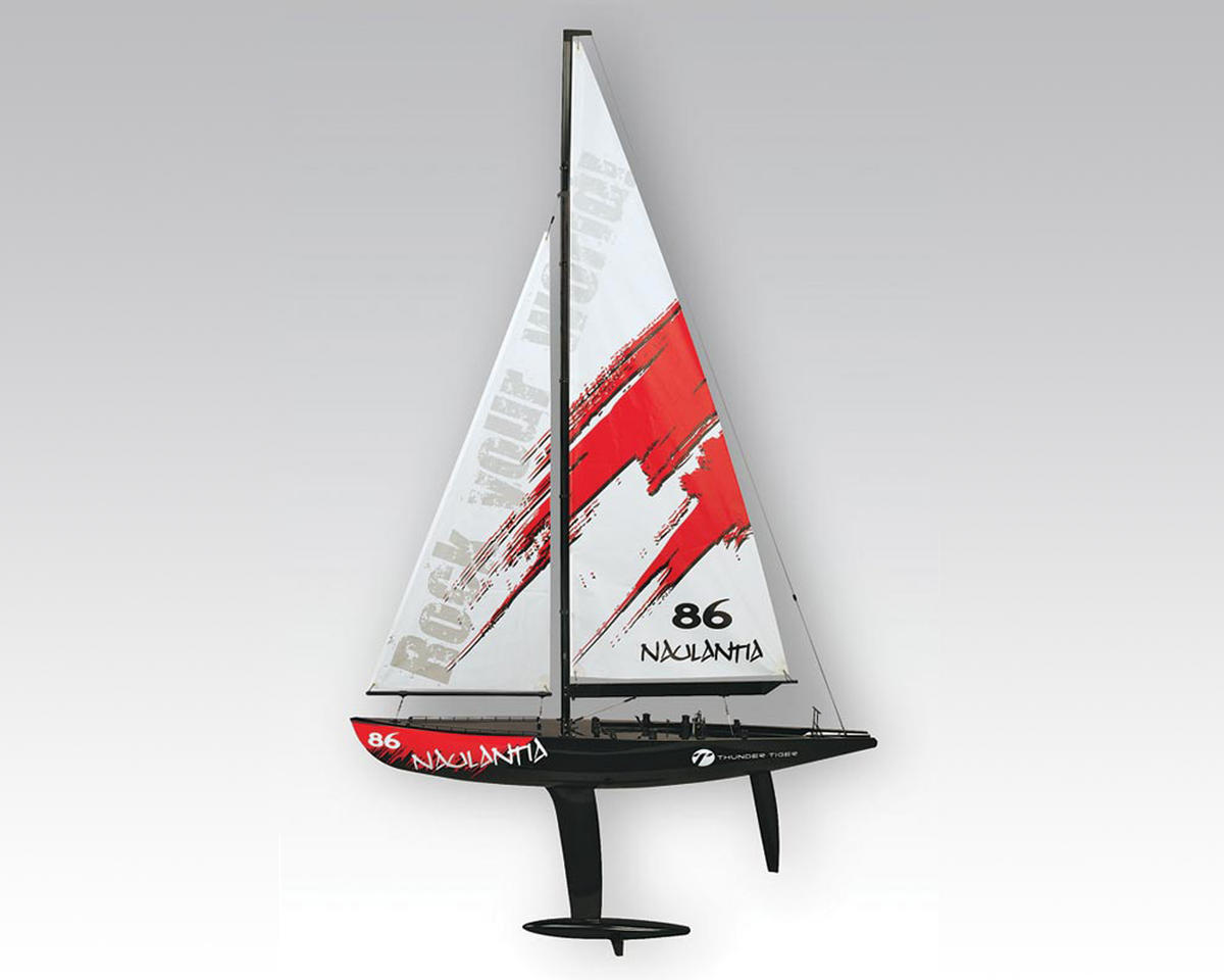 Thunder Tiger Naulantia 1M RTR Racing Yacht Kit (Red)