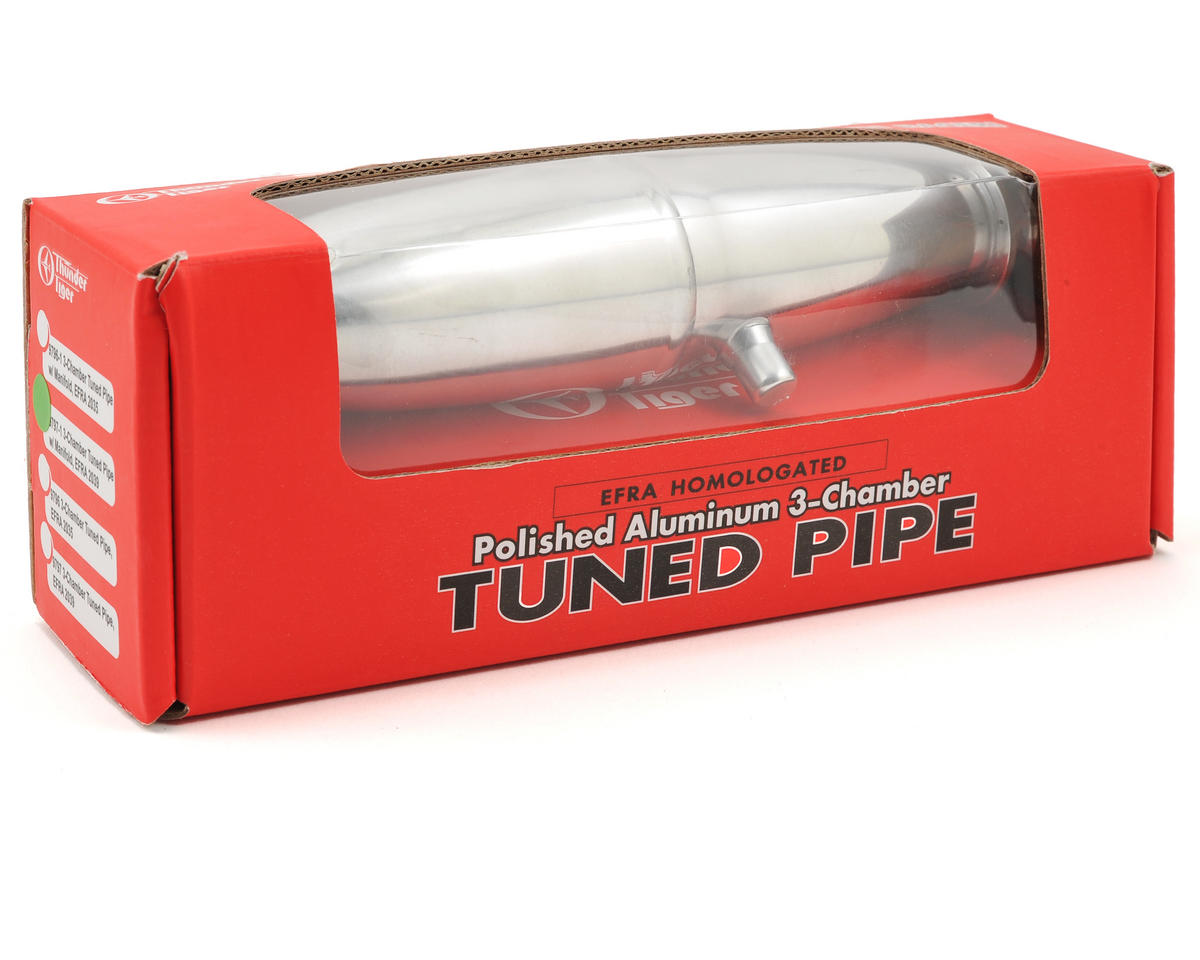 Thunder Tiger 3-Chamber EFRA 2039 Tuned Pipe (Short) w/Manifold