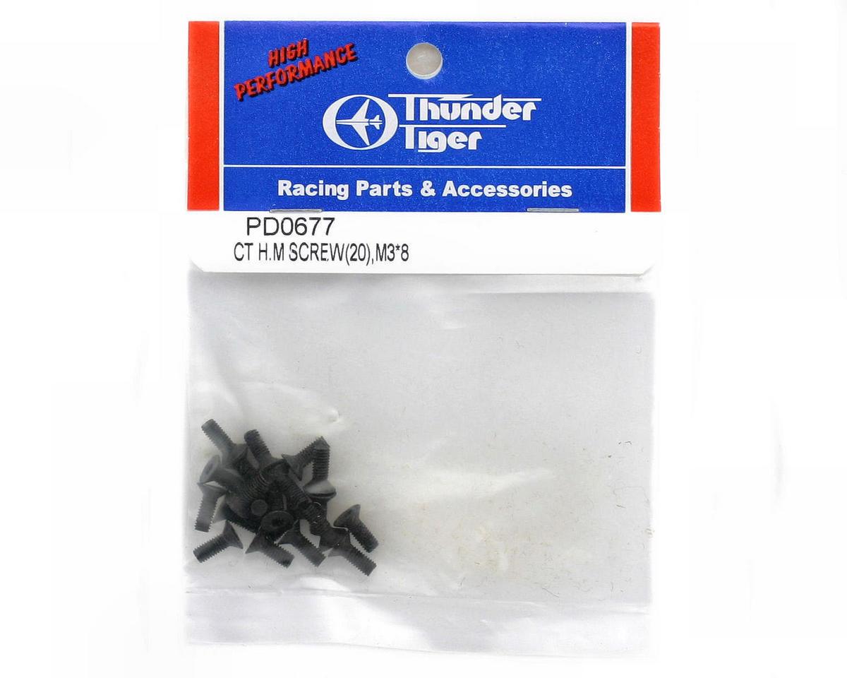 Thunder Tiger 3x8mm Counter Sunk Machine Screw (20)