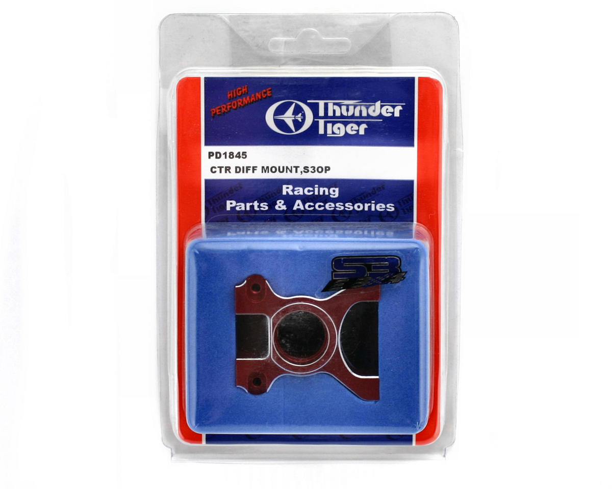 Thunder Tiger Red Machined Aluminum Center Diff Mount, S3