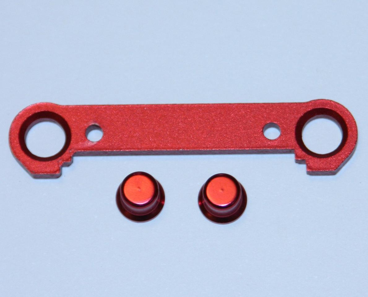 Red Aluminum Front Lower Suspension Plate (FF-1), S3 by Thunder Tiger