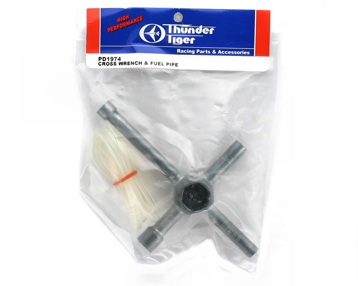 Thunder Tiger Cross Wheel Wrench & Fuel Tubing