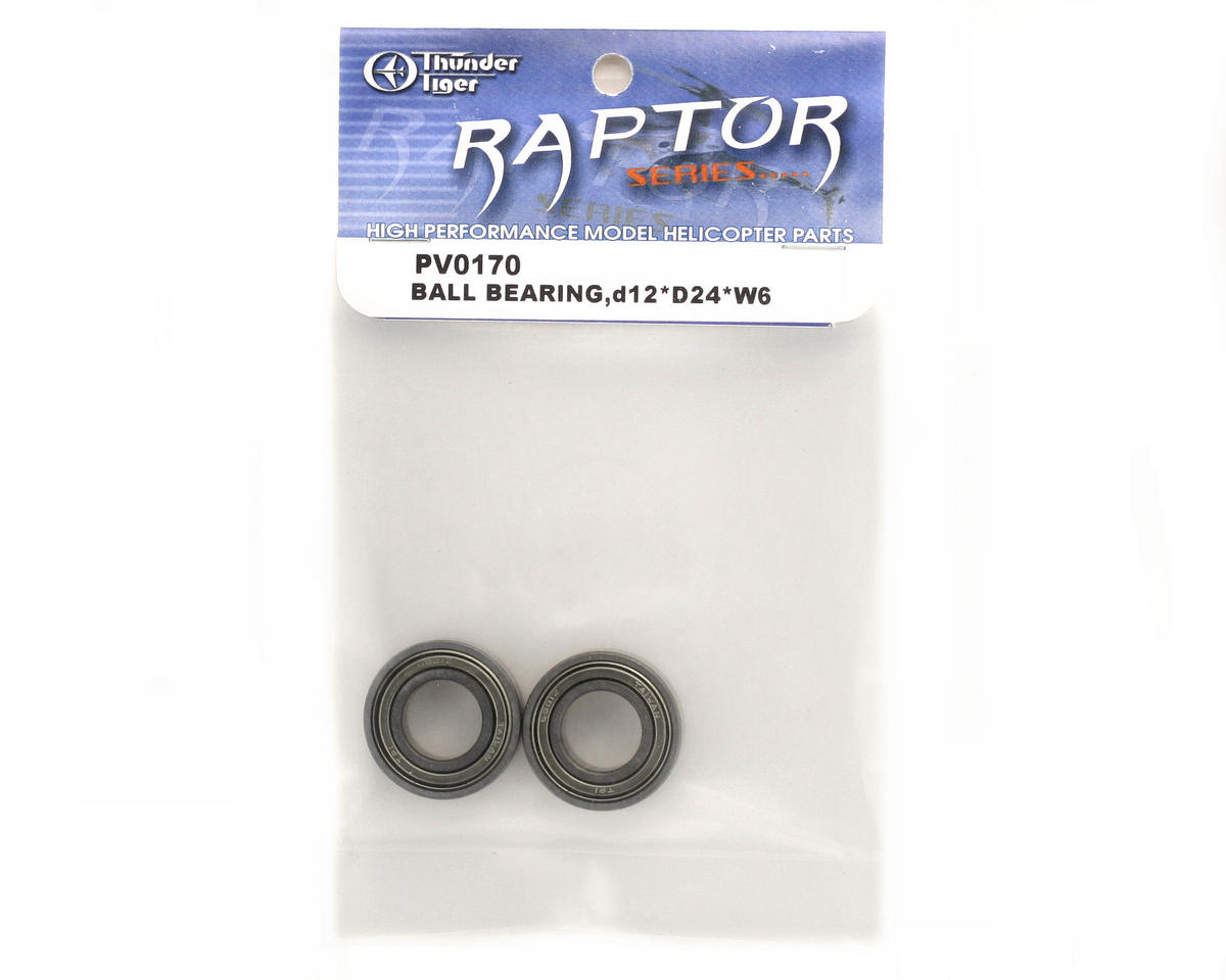 Thunder Tiger 12x24x6mm Ball Bearing (2)