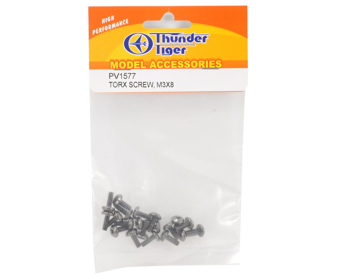 Thunder Tiger 3x8mm Torx Screw (20)