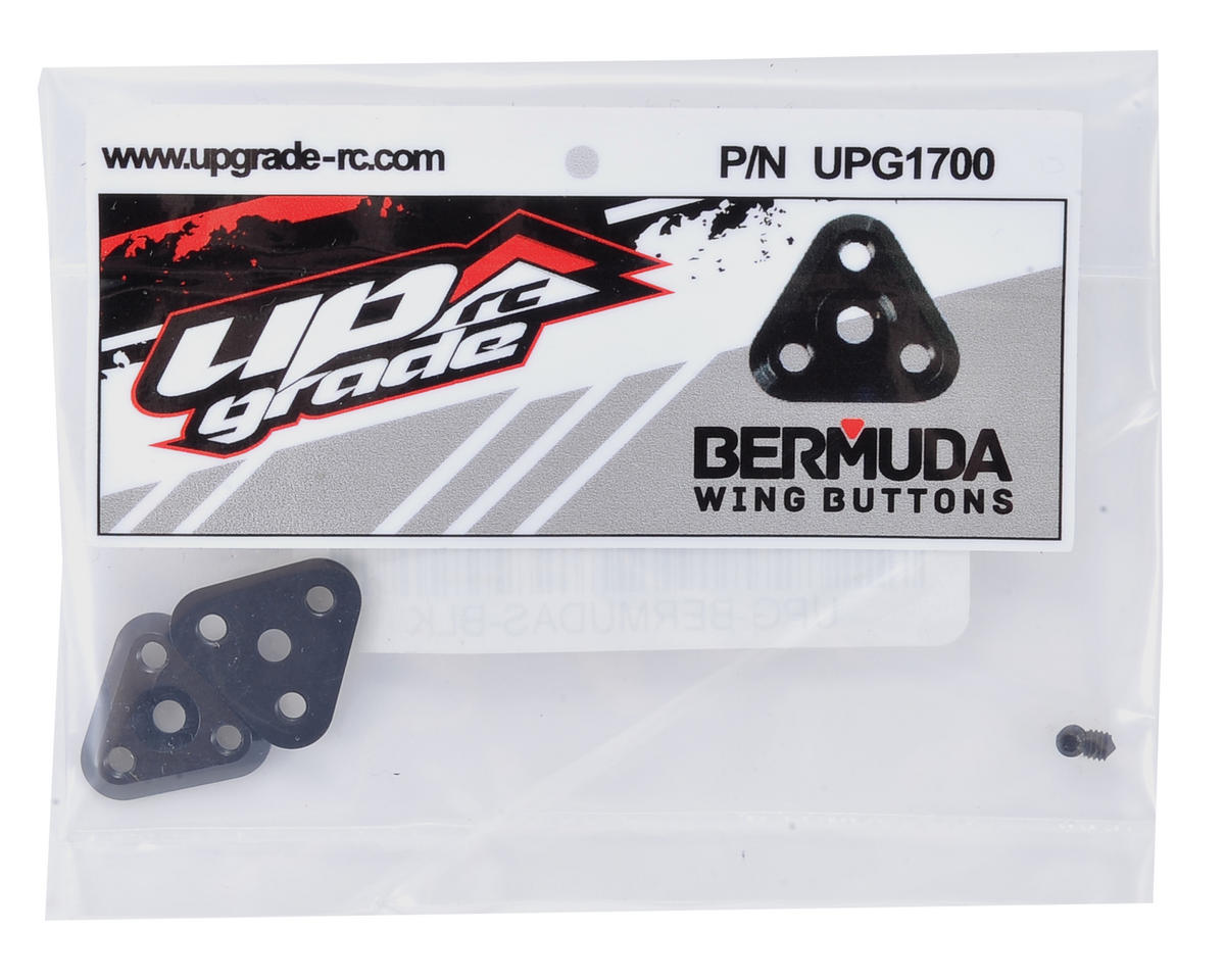 Bermudas Wing Buttons (2) (Black) by Upgrade R/C