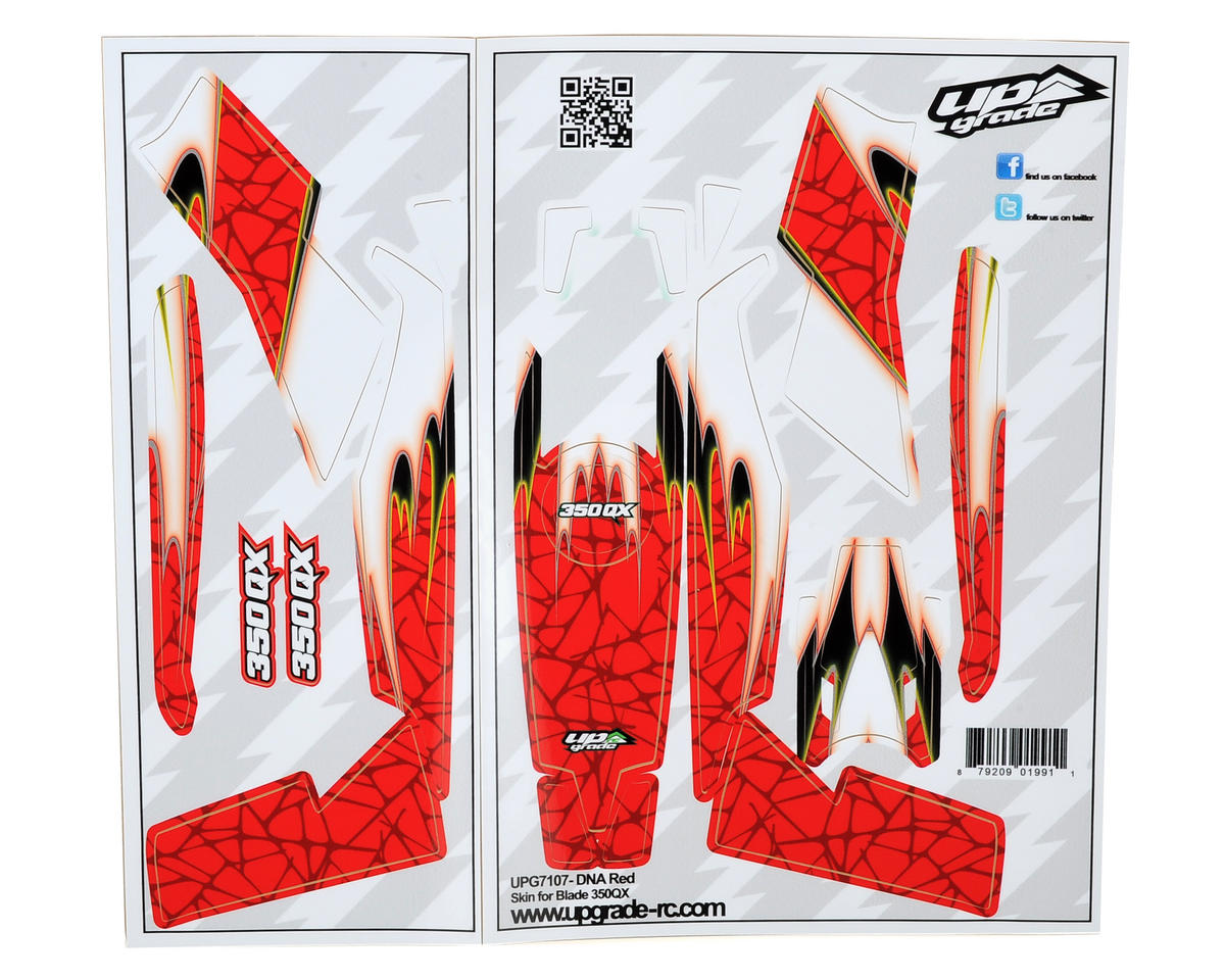 "Upgrade R/C Blade 350 QX ""DNA"" Skin (Red)"