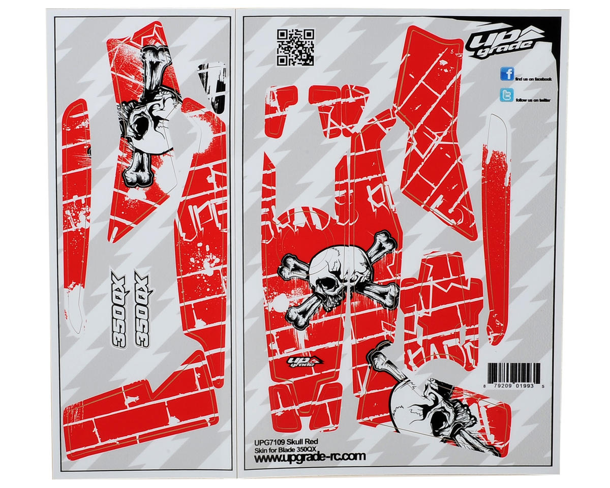 "Upgrade R/C Blade 350 QX ""Skull"" Skin (Red)"