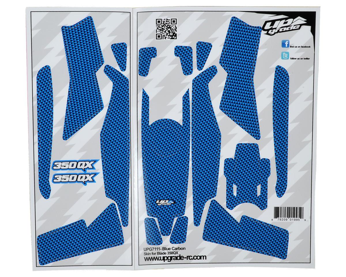 "Upgrade R/C Blade 350 QX ""Carbon"" Skin (Blue)"