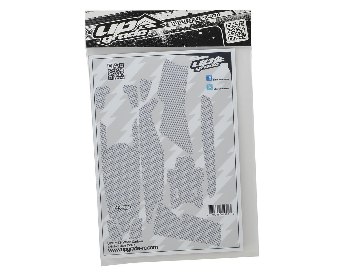 "Upgrade R/C Blade 350 QX ""Carbon"" Skin (White)"