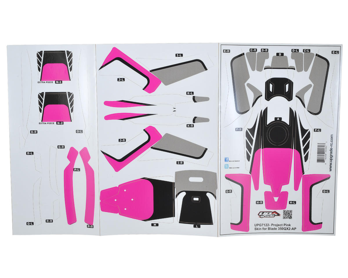 "Upgrade R/C Blade 350 QX2 AP ""Project"" Hyper Skin (Pink)"