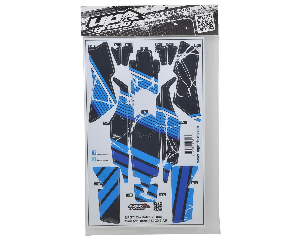 "Upgrade R/C Blade 350 QX2 AP ""Retro 2"" Hyper Skin (Blue)"