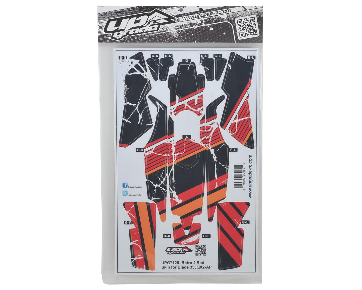 "Upgrade R/C Blade 350 QX2 AP ""Retro 2"" Hyper Skin (Red)"