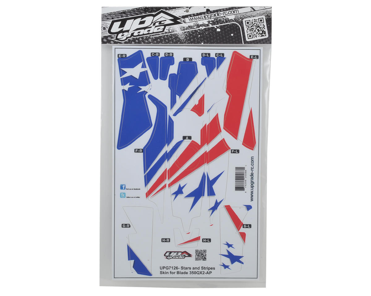 "Upgrade R/C Blade 350 QX2 AP ""Stars & Stripes"" Hyper Skin"