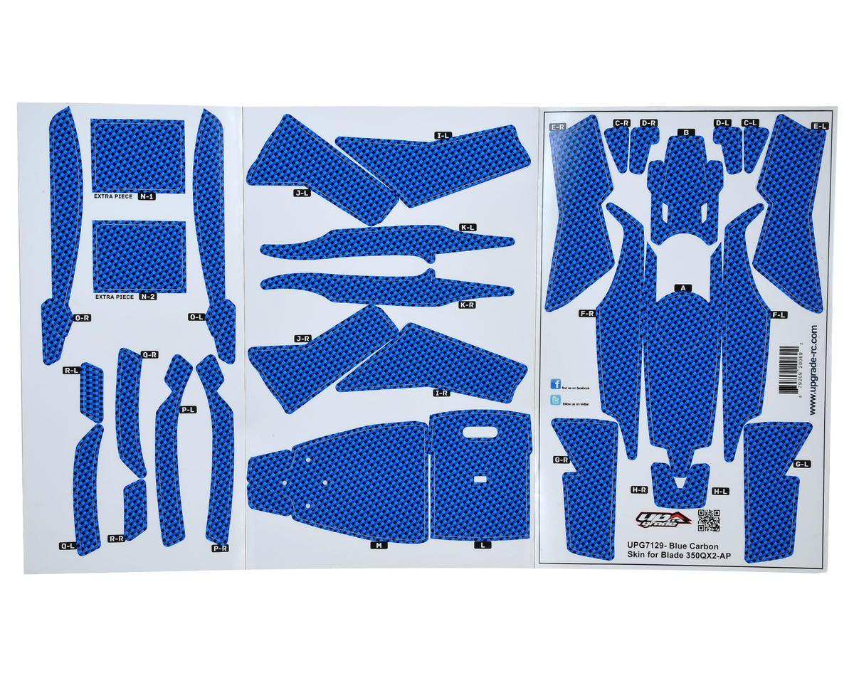 "Upgrade R/C Blade 350 QX2 AP ""Carbon"" Hyper Skin (Blue)"