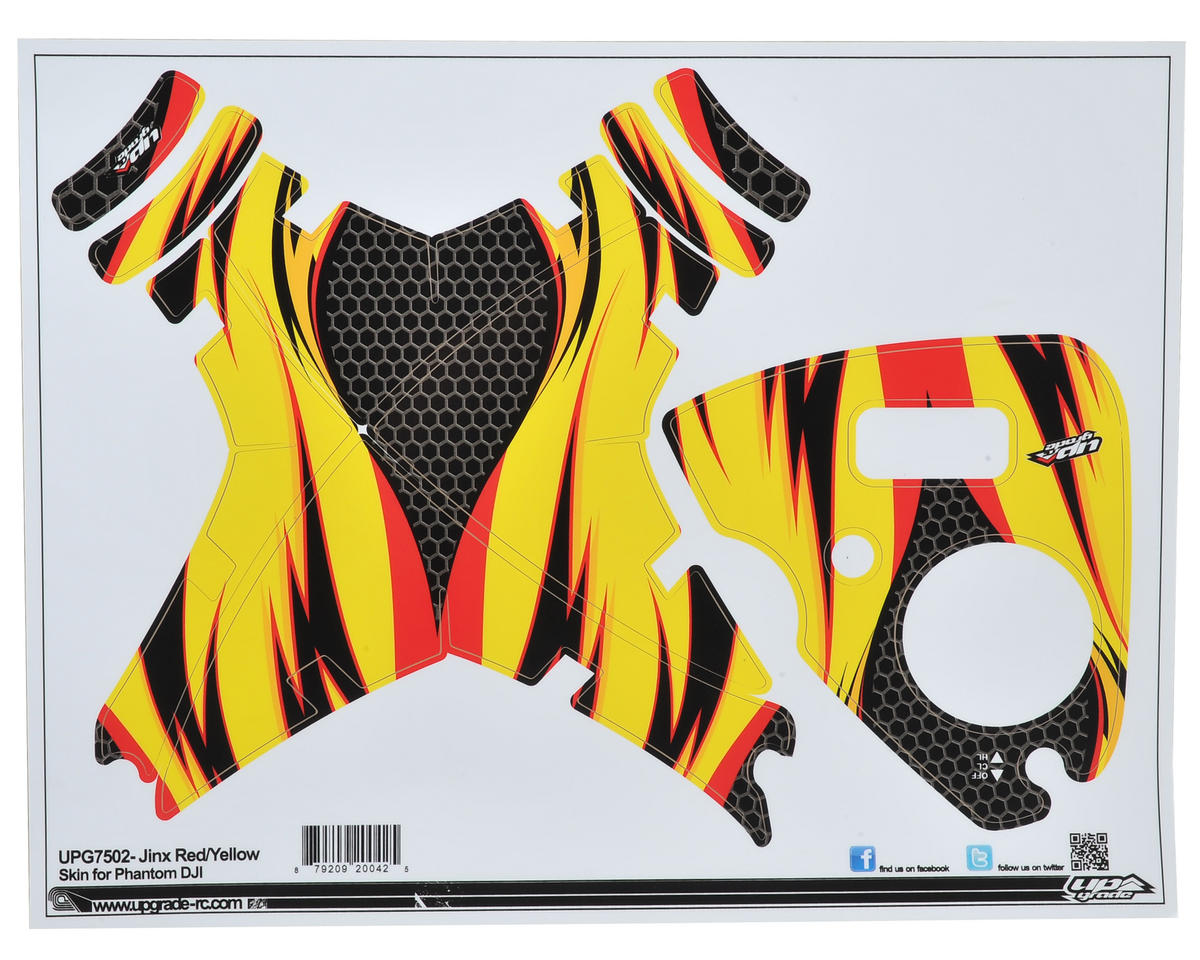 "Upgrade R/C DJI Phantom ""Jinx"" Skin (Red/Yellow)"