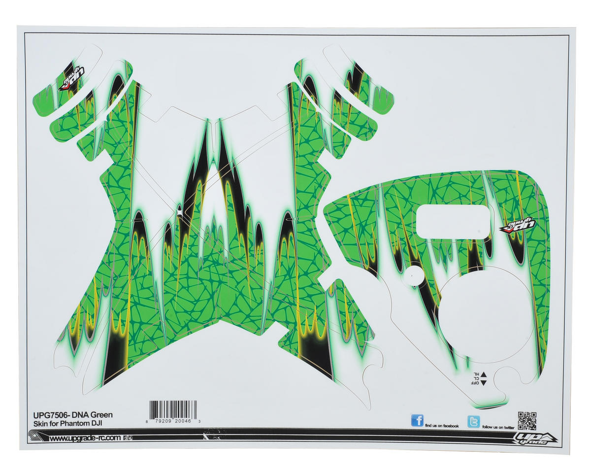 "Upgrade R/C DJI Phantom 2 Vision+ ""DNA"" Skin (Green)"
