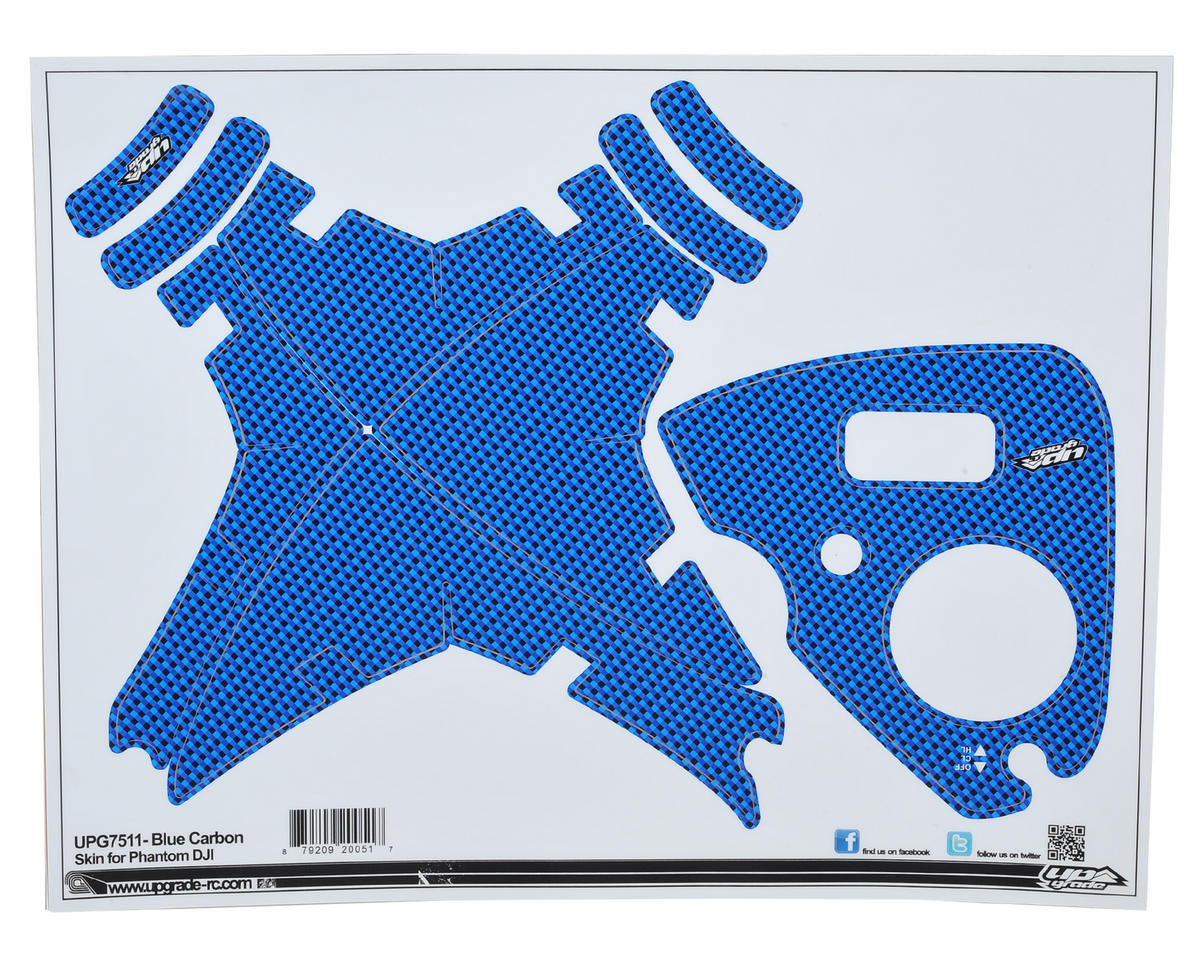 "Upgrade R/C DJI Phantom 2 Vision+ ""Carbon"" Skin (Blue)"