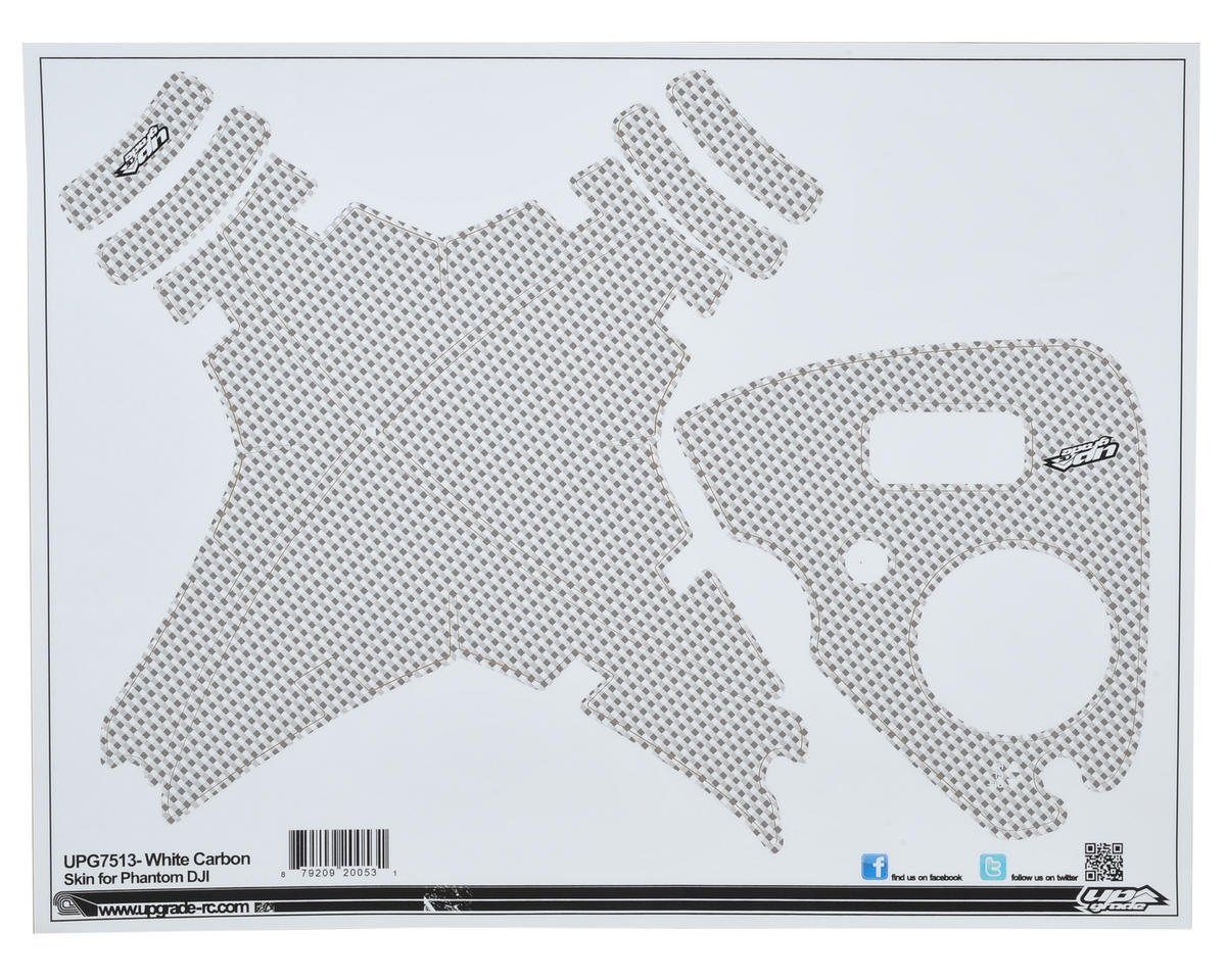 "Upgrade R/C DJI Phantom ""Carbon"" Skin (White)"