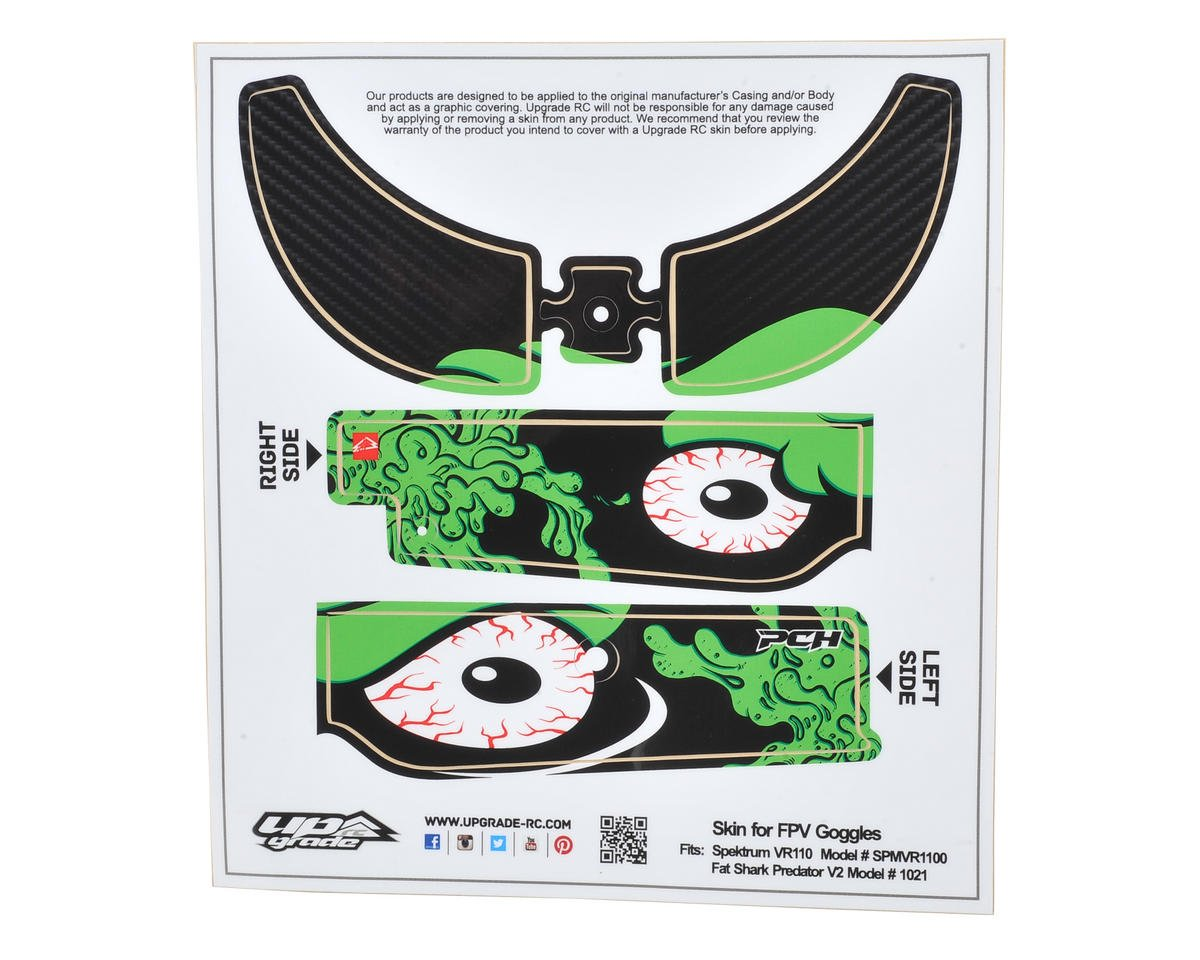 Upgrade R/C Spektrum/FatShark FPV Headset Goggles Skin (Slime Ball Green)