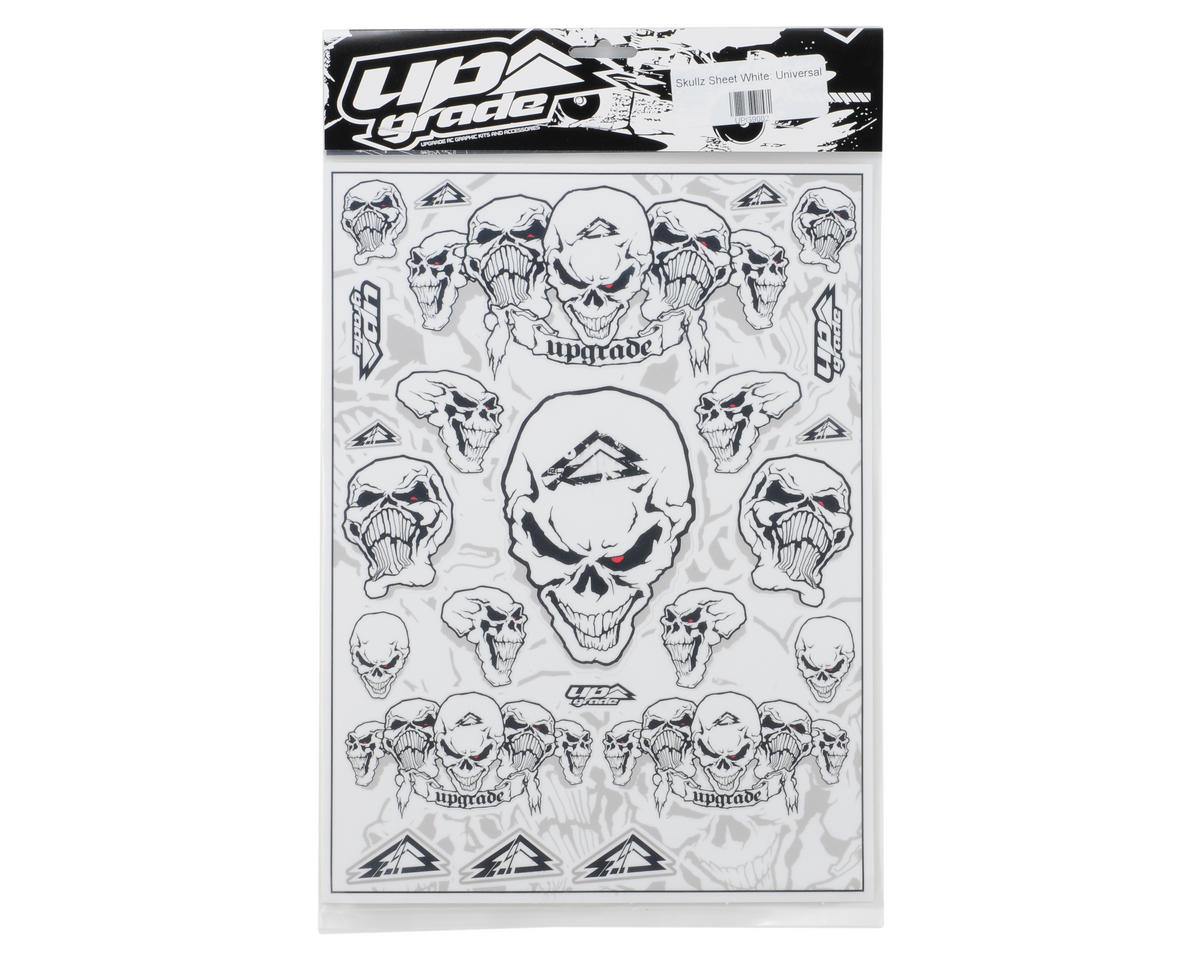 Upgrade R/C Skullz Universal Graphics Kit (White)