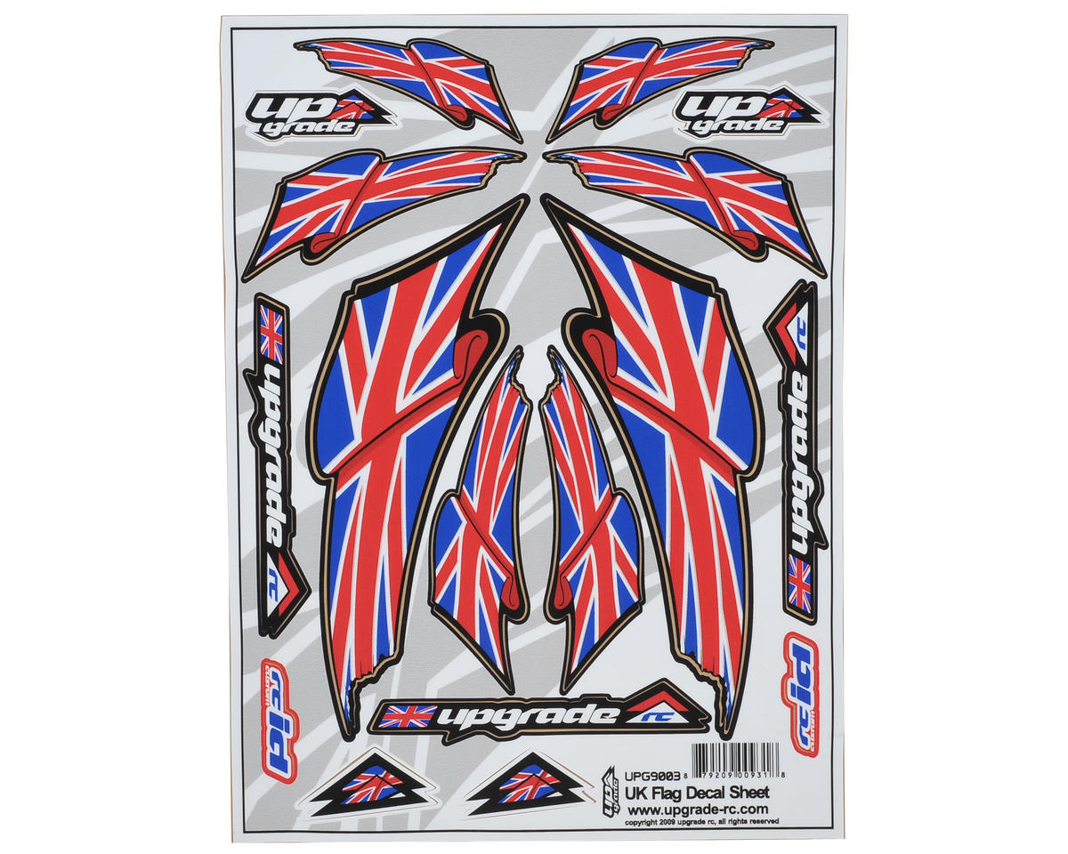 "Upgrade R/C ""UK Flag"" Decal Sheet"