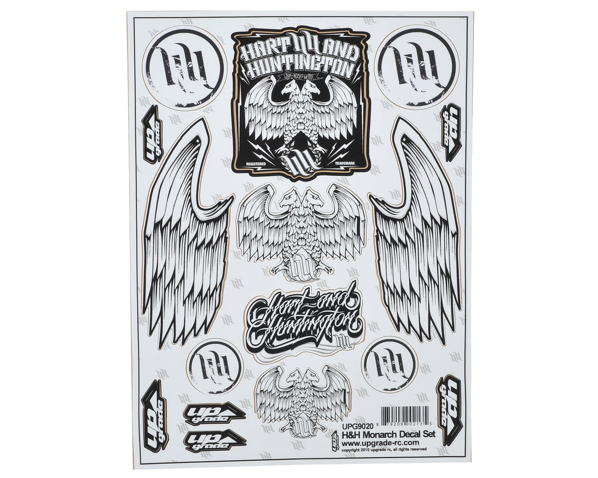 "Upgrade R/C ""Hart and Huntington"" Decal Sheet"