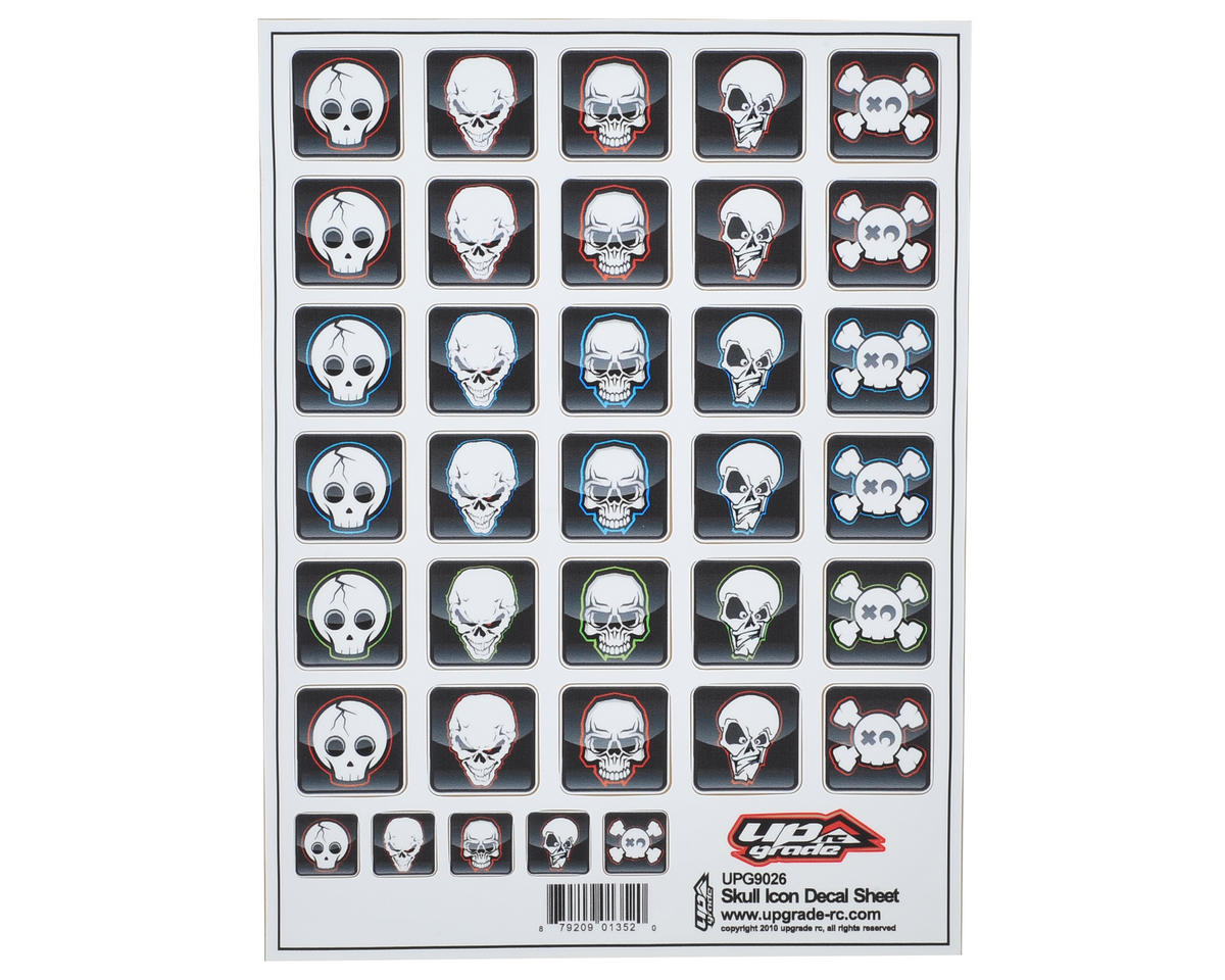 "Upgrade R/C ""Skull Icon"" Decal Sheet"