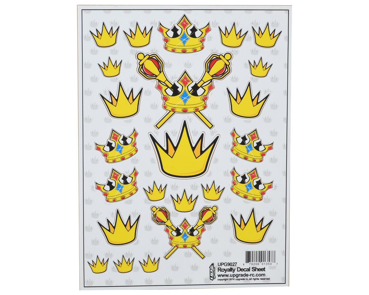 "Upgrade R/C ""Royalty"" Decal Sheet"