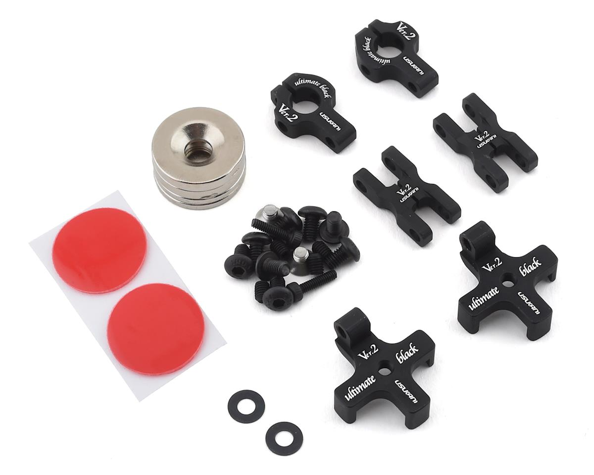 Usukani Ver 2.0 Aluminum Magnet Body Mount (Black) (2) (MST MS-01D)