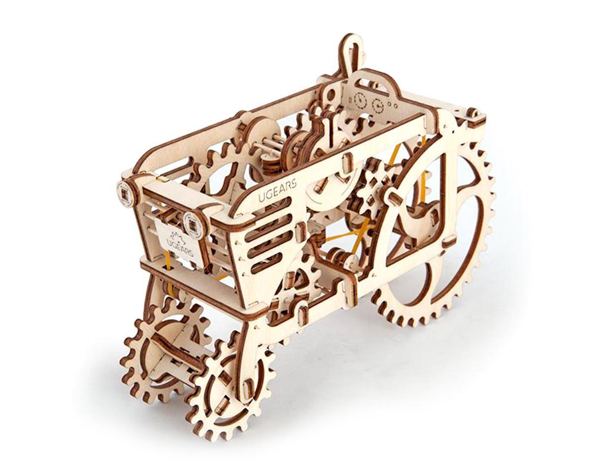 Tractor Mechanical Wooden 3D Model