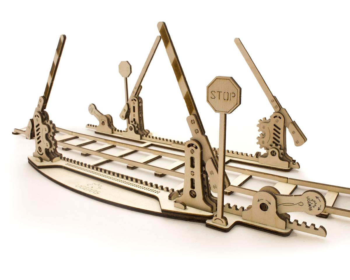 UGears Rails with Crossings Wooden 3D Model