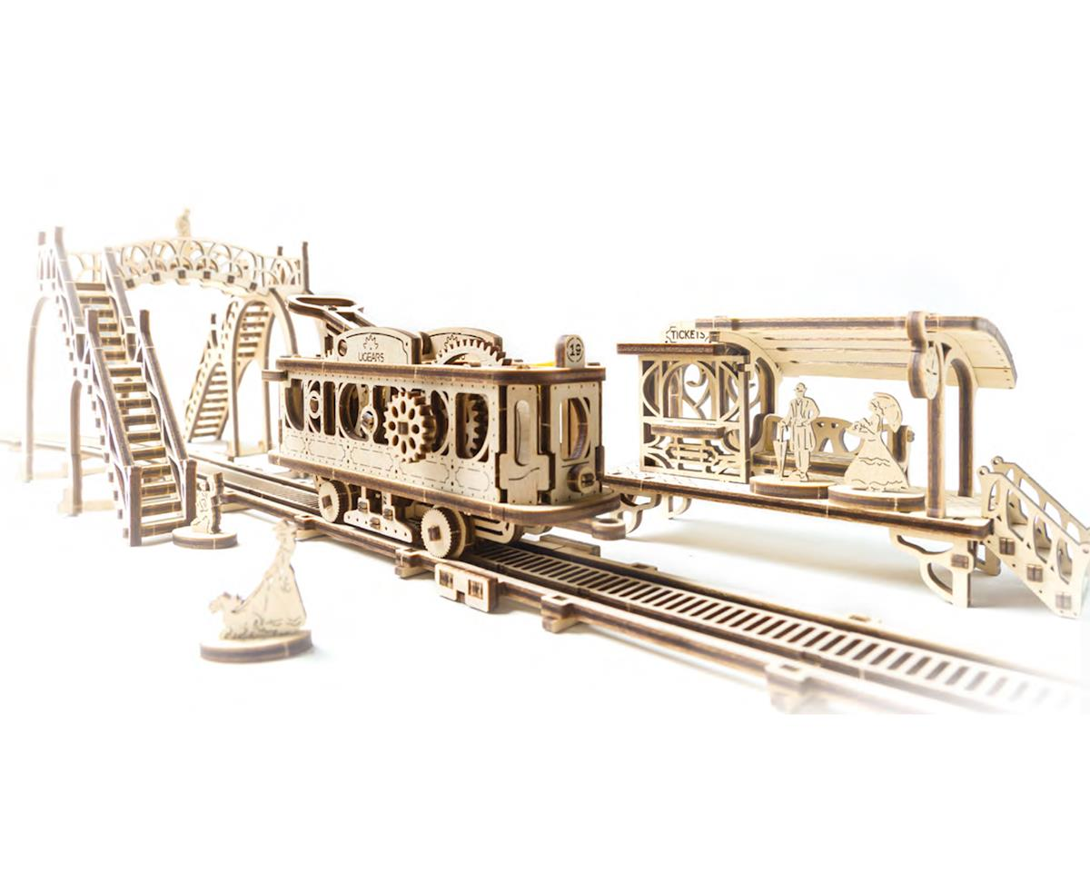 UGears Mechanical Town Tram Line Wooden 3D Model | relatedproducts