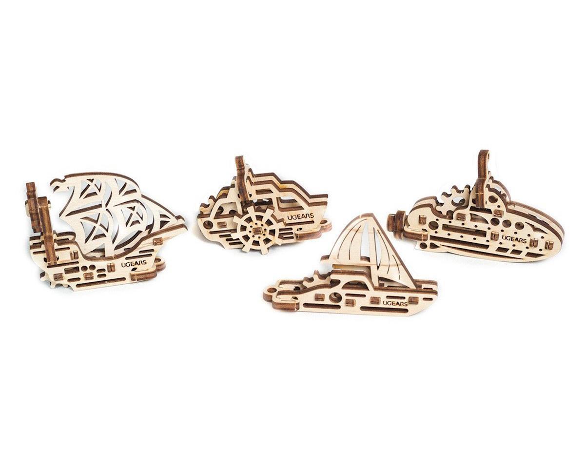 U-Fidget Ships Wooden 3D Model (4)