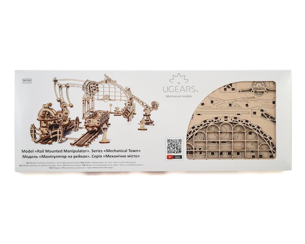 UGears Mechanical Town Rail Manipulator Wooden 3D Model