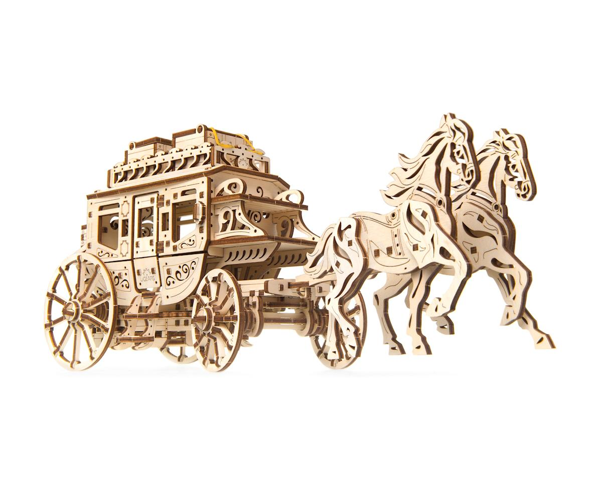 Stagecoach Wooden 3D Model by UGears