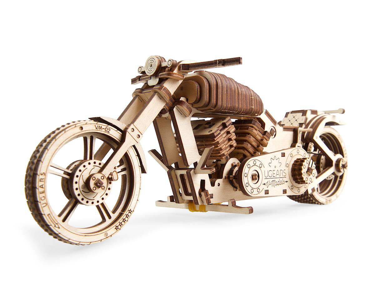 Motorcycle Bike VM-02 Wooden 3D Model by UGears