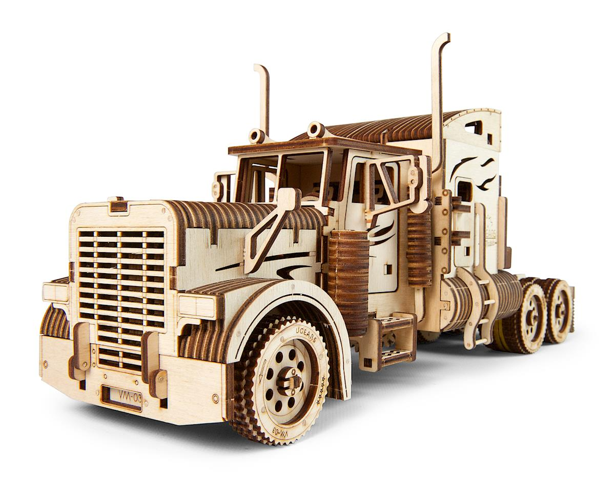 UGears Heavy Boy Truck VM-03 Wooden 3D Semi Model