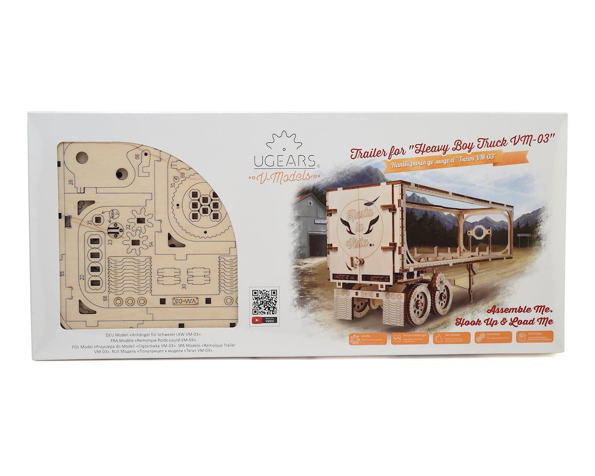 UGears Heavy Boy Trailer Wooden 3D Model (for Truck VM-02)